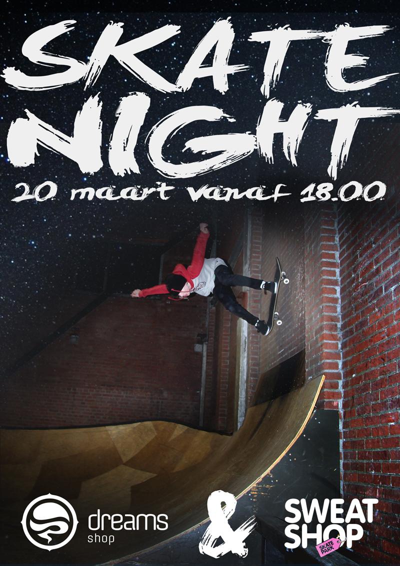 Dreams Skate Night at Skatepark Sweatshop