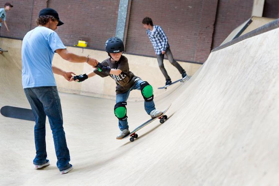 kinderfeestje skateboarden indoor