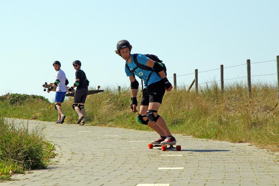 activiteit sport/actief longboarden