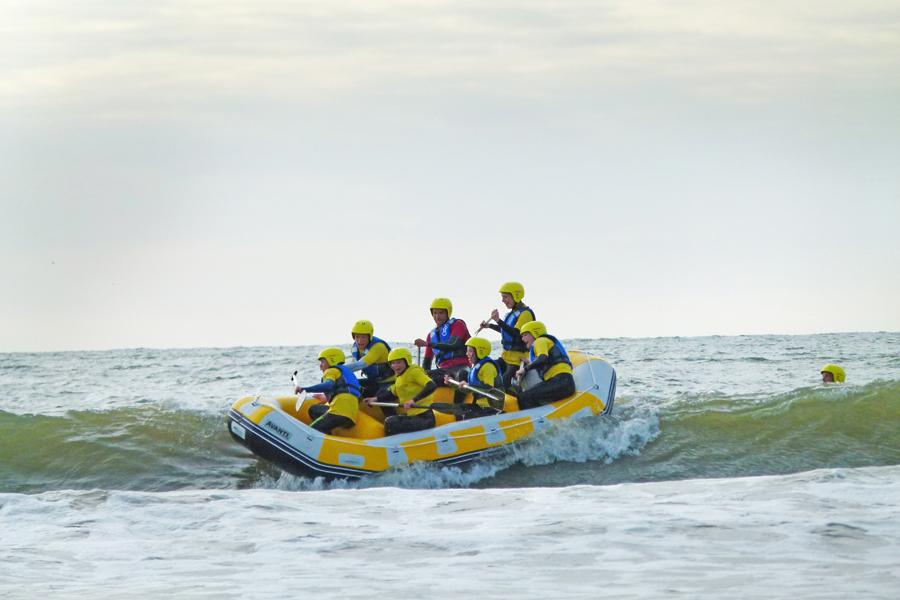 activiteit zee/actief raften